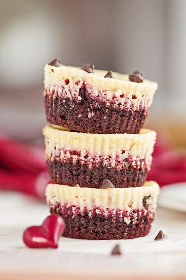 #Schoko-#Himbeer-#Muffins mit Pudding