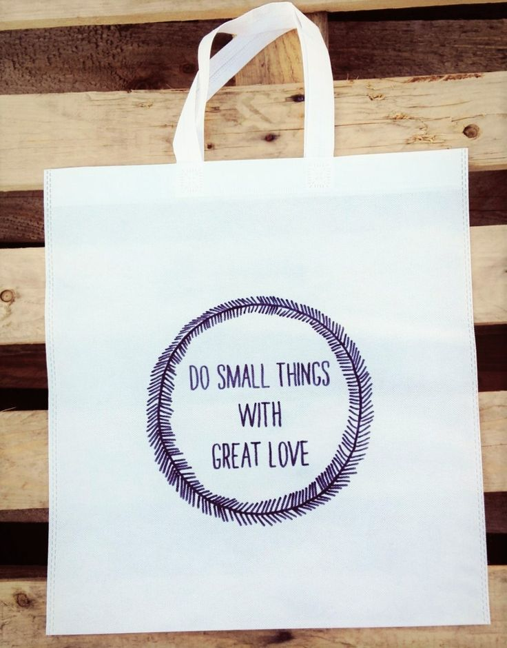 Do Small Things With Great Love Woven Tote <3