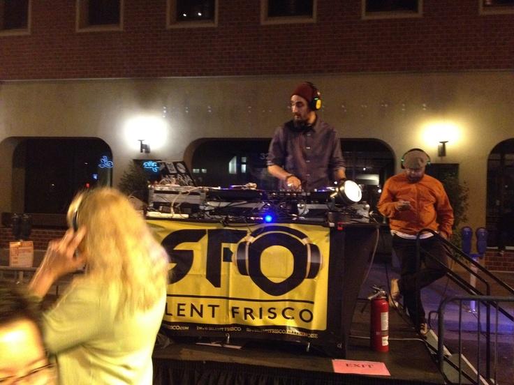 Silent Disco at a street festival, San Jose, CA
