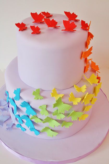 Butterfly Birthday Cake Ideas | Birthday Cakes New Jersey - Rainbow Butterfly Custom Cakes @ Sweet ...