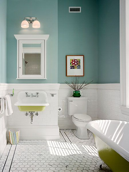 Bath redo tip: Save money—or DIY time—by opting for a wall-mount medicine cabinet, which is easier to install than a recessed model.