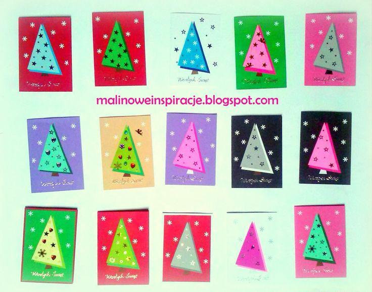 MaLiNowe Inspiracje DIY: Jak zrobić 15 prostych kartek świątecznych