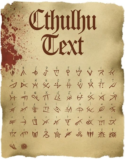 Cthulhu Text: TTF Font File - The Vaults of McTavish | DriveThruRPG.com