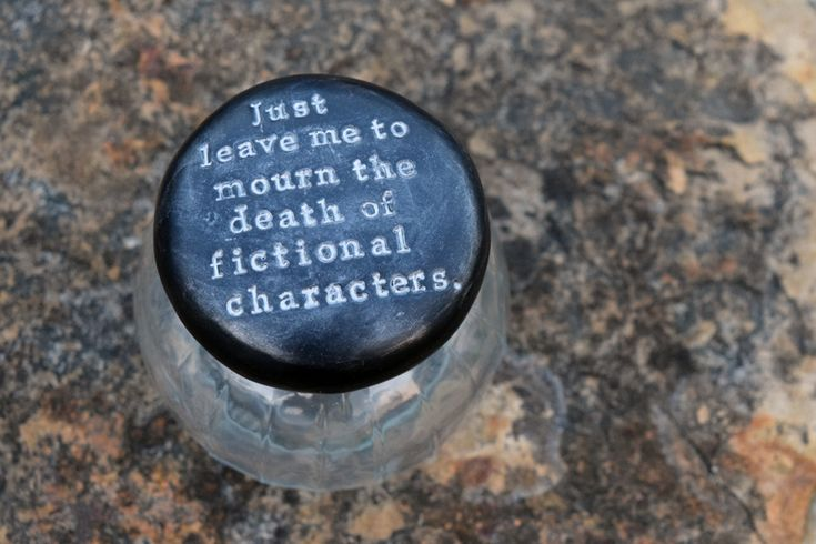 bookish gifts, polymer clay stash jar, glass stash jar, gifts for readers