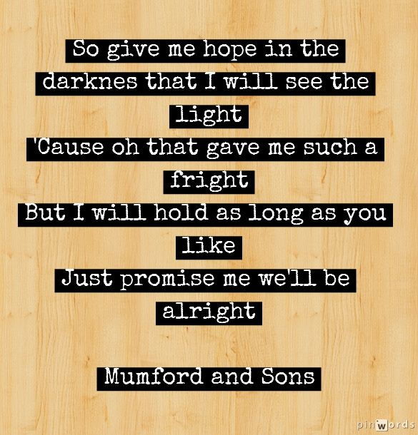 Mumford and Sons   Ghosts That We Knew Words added on pinwords.com