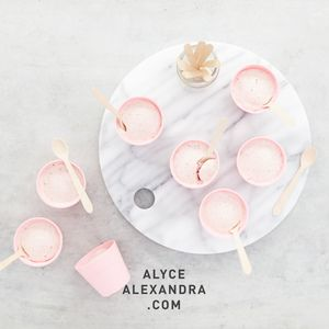 Individual Strawberry Ice Creams — alyce alexandra