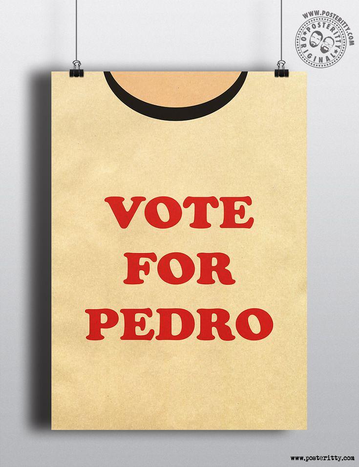Napoleon Dynamite Vote Pedro Minimal Torso Poster by #Posteritty #Minimal #MinimalPosters #PosterittyStyle #PopCulturePrints #MinimalPrints #VotePedro #Pedro