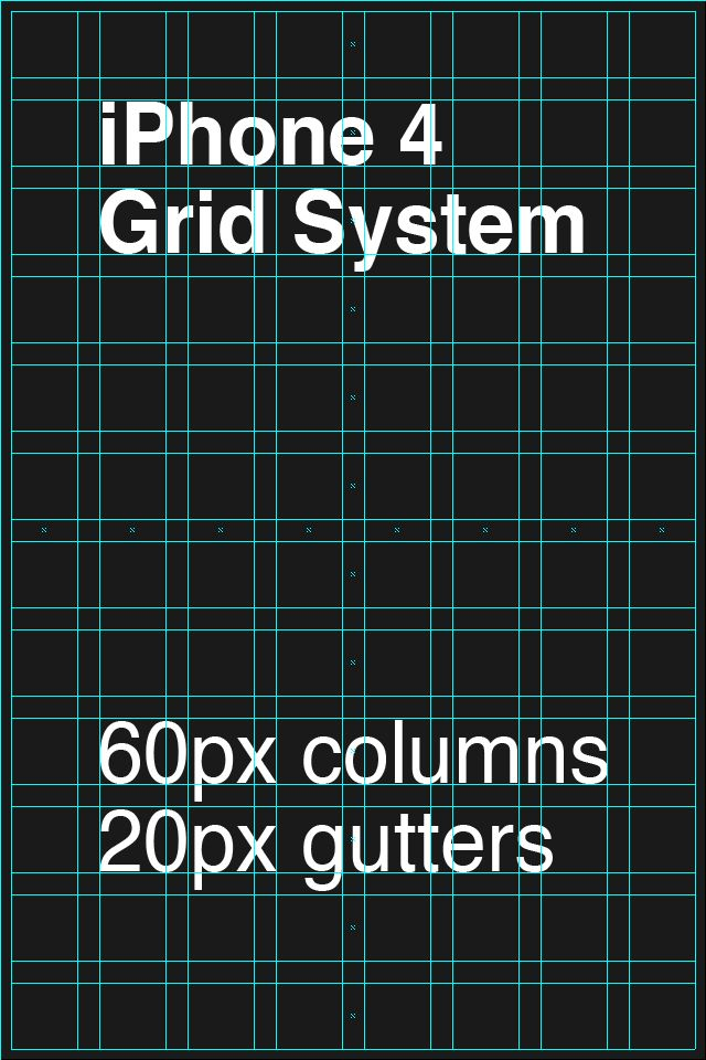 iPhone and iPhone 4 Grid Systems