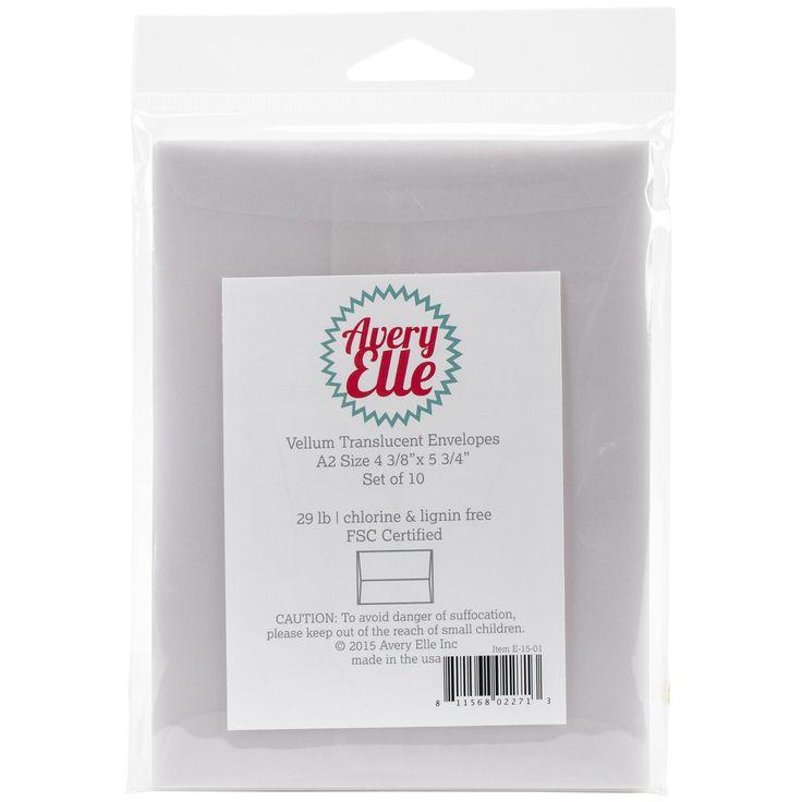 Vellum A2 Envelopes 10/Pkg-