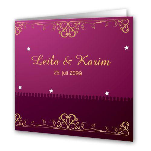 Hochzeitskarten - orientalische Hochzeit