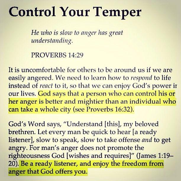 control your temper - Google Search