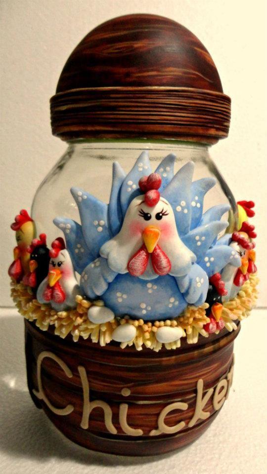 Polymer Clay jar, masa flexible, cold porcelain, masa francesa, porcelana fria,