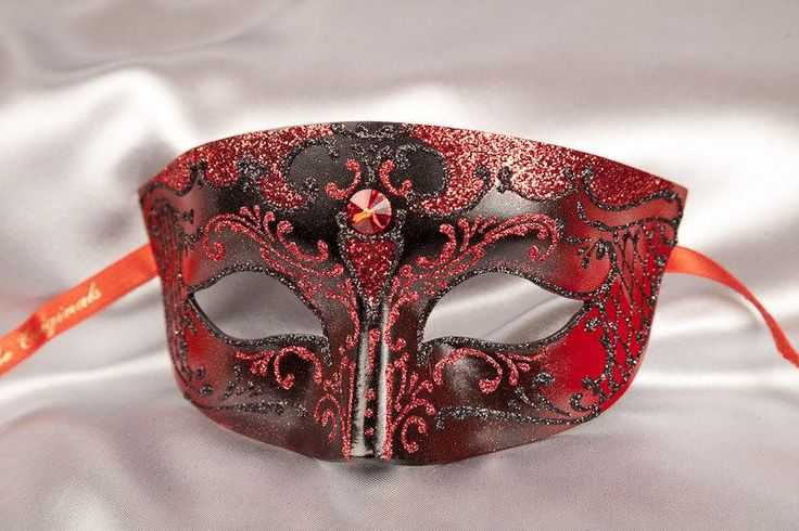 Mans Smart Masquerade Ball Mask - Smoking Gold. Available in red, black, brown or white. Quality mans Venetian mask