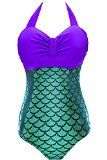 Women Retro Holographic Mermaid Bathing Suits  $18.49  www.mermaidhomedecor.com - Mermaid NEW (2)