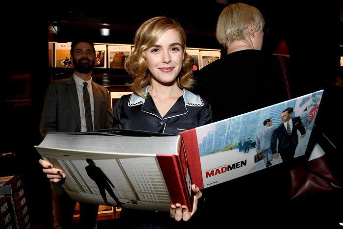 "Christina Hendricks, Kiernan Shipka, January Jones and Jessica Paré attend the launch for Matthew Weiner's Book ""Mad Men"" at the Taschen Beverly Hills Stor"