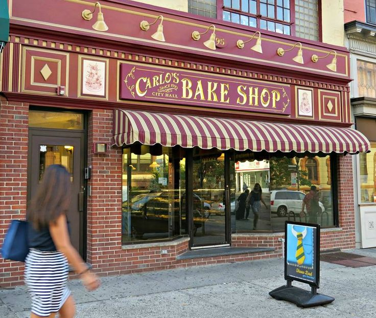 "This is the original Carlo's Bake Shop in Hoboken (NJ) that rose to fame with ""Cake Boss,"" a reality television series that premiered on TLC in April 2009 depicting the staff of the shop creating elaborate custom-order novelty cakes. June 12, 2015."