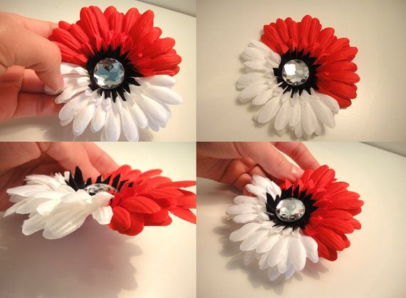 Poke'ball Poke'mon Trainer Cosplay Flower by AllycatAccessories, $7.00