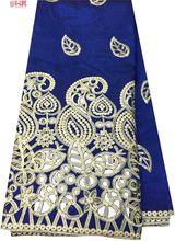 Neueste beliebte designs Schwarz pailletten stoff 5 Yards Afrikanisches Spitzegewebe hohe qualität indische seide George spitze stoff G1-049(China (Mainland))