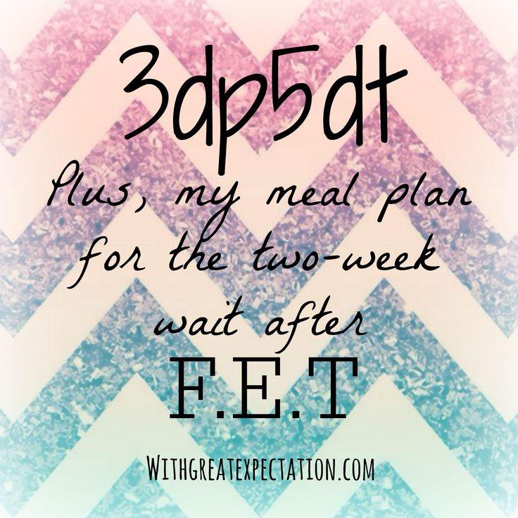 Two-week wait meal plan