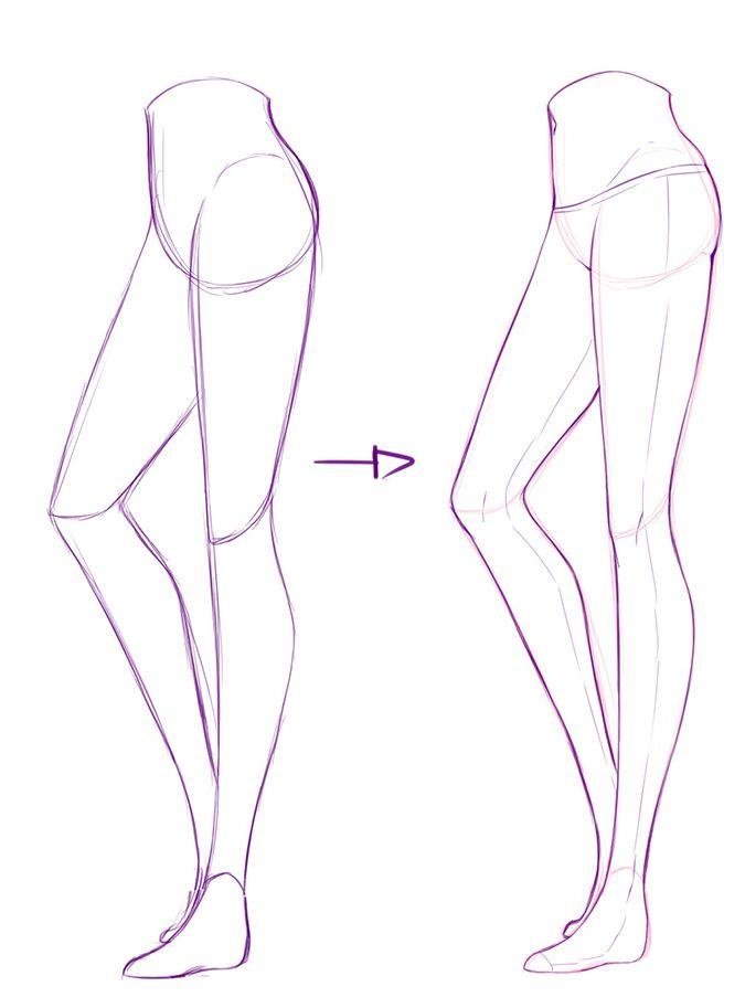Как рисовать ноги