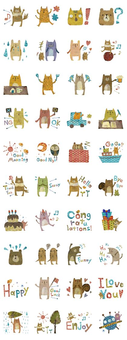 The SORAHANA world from the illustrator Megumi Inoue became stylish stickers!Enjoy these cute animal stickers and make your talk into the picture book!