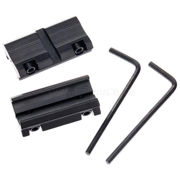 2016 Baru Kedatangan 2 pcs Cincin Converter/W 3/8 11mm Pas untuk 7/8 20mm Weaver Rail Adapter lingkup Gunung