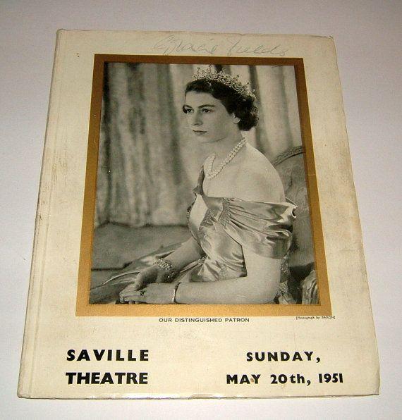 1951 Gracie Fields Autograph Programme Saville by BiminiCricket