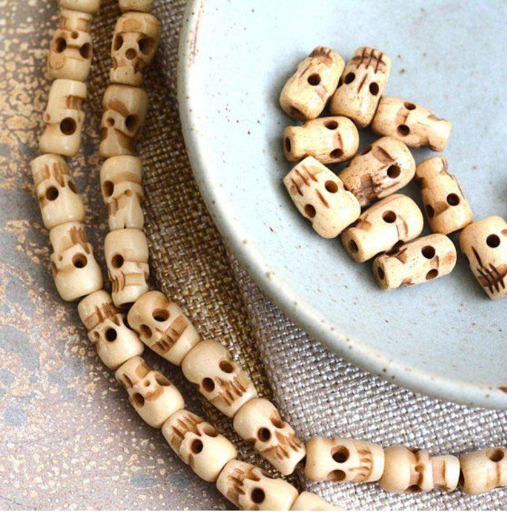 10 Carved Bone Skull Beads Antiqued Bone Beads Tibetan Skull Beads Bone Skull Beads Skull Mala Beads Skull Beads 10 Beads Lum14 22 Bone Carving Beaded Skull Bone Beads