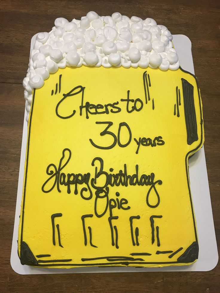 30Th Birthday Cake For Him Beer Ms Lauras Cakes (With