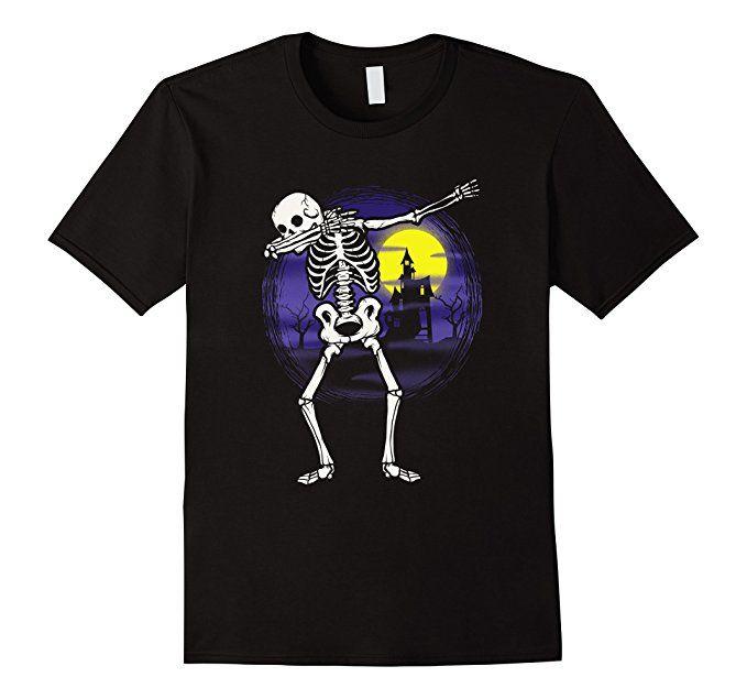 Amazon.com: Dabbing Skeleton Halloween Shirt Haunted House Party Funny: Clothing