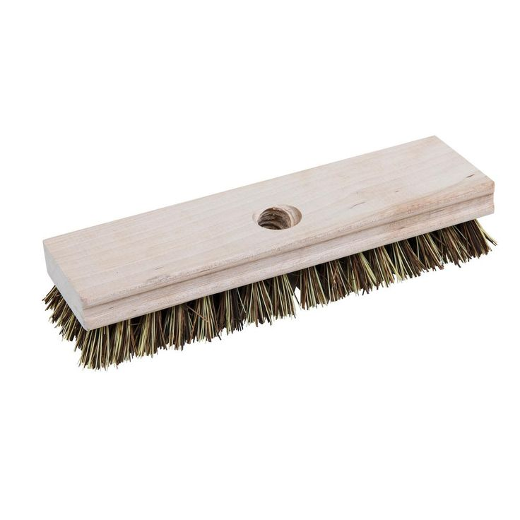 Quickie Professional Wood Block Deck Scrub Brush 223tcnrm The Home Depot In 2020 Paint Concrete Patio Concrete Patio Makeover Exterior Wood Stain
