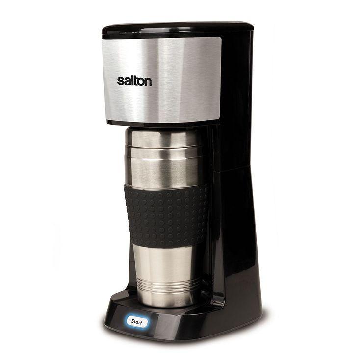 Salton Single-Serve Travel Coffee Maker, Black
