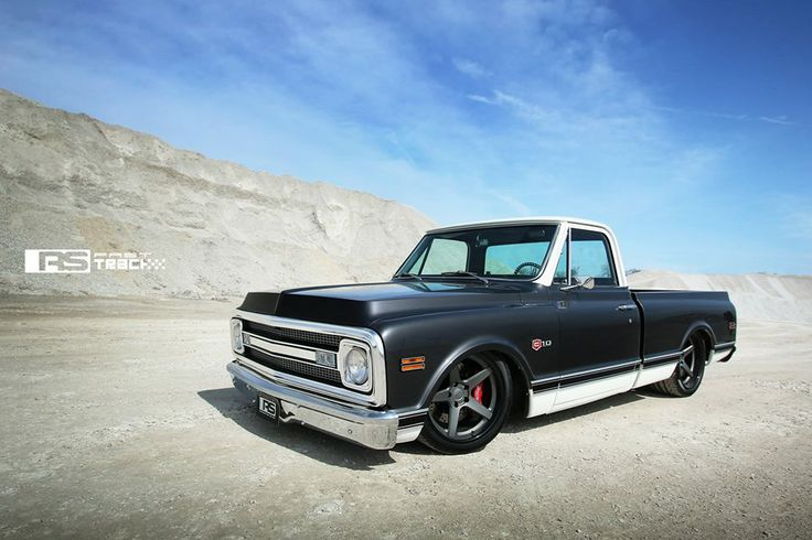 The Roadster Shop's Craftsman C-10 truck on Forgeline CF3C Concave