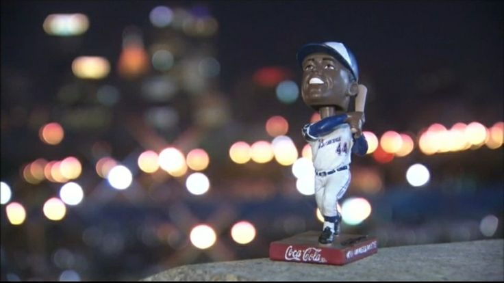 Henry Aaron Bobble Head Doll #Braves