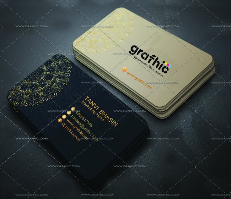 """Gold-Card!! """" Creative Business Card """" . A good business card definitely won't ensure your success, but it sure can help! It can make all the difference in the first impression that you have on someone, or whether or not you leave an impression at all. With the emphasis placed on networking these days, it's more important than ever to stand out of the crowd GRAFHIC will provide you with a few good ideas for how to do it."""