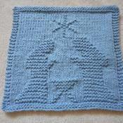 Nativity Dishcloth - via @Craftsy