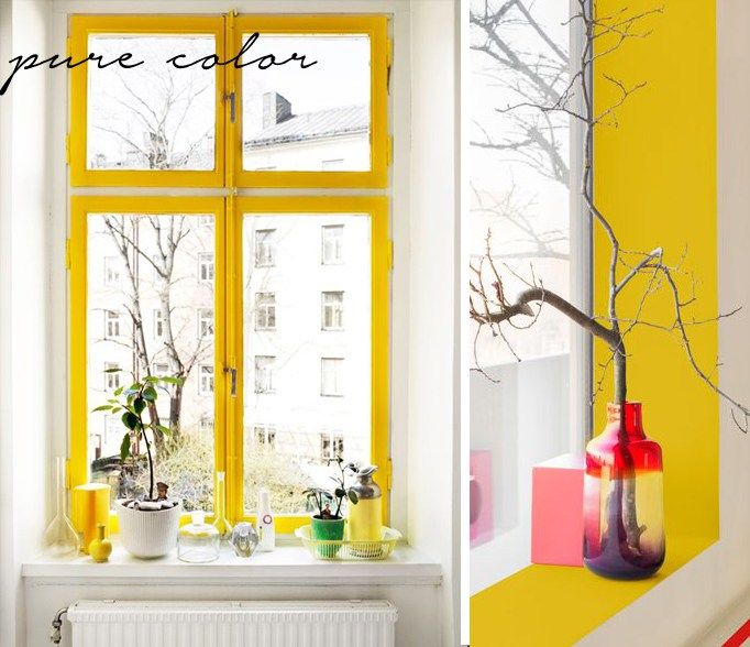 Tips for small spaces - Use bright colour tones instead of muted ones when choosing a colour palette. It not only adds a contemporary twist but does wonders for a small space by injecting energy. Try a bright tone on the inside of bookshelves or even window sills - http://www.homeology.co.za/
