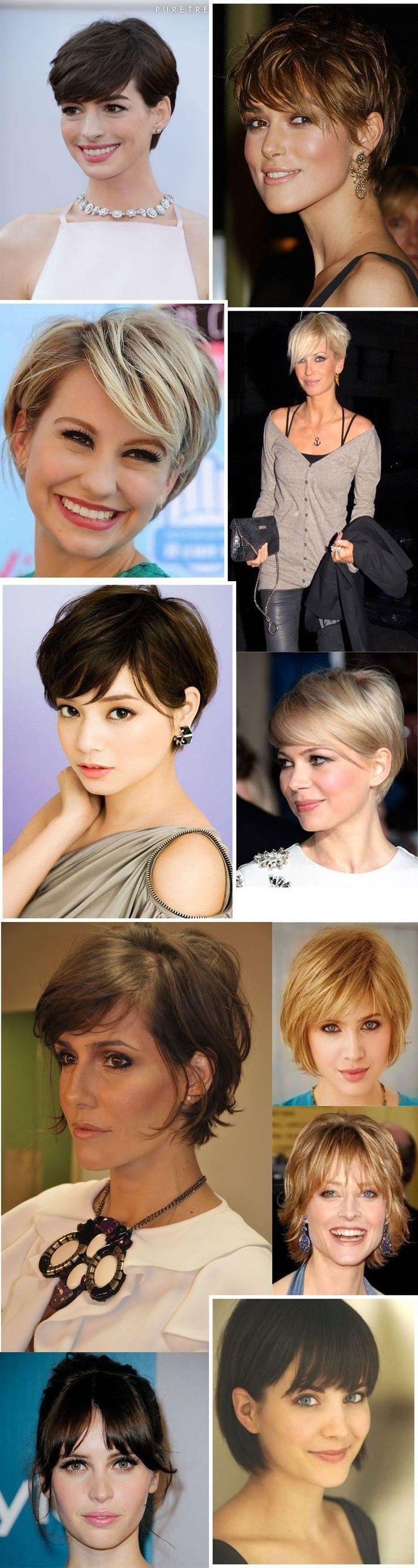 cabelos com franja curtos