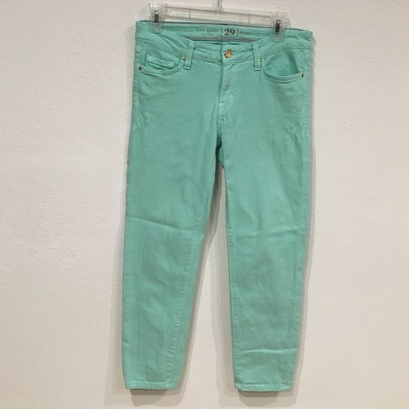 Kate Spade mint jeans Excellent condition. Inseam: 24. Also available in lilac. No trades, no PayPal kate spade Jeans Ankle & Cropped