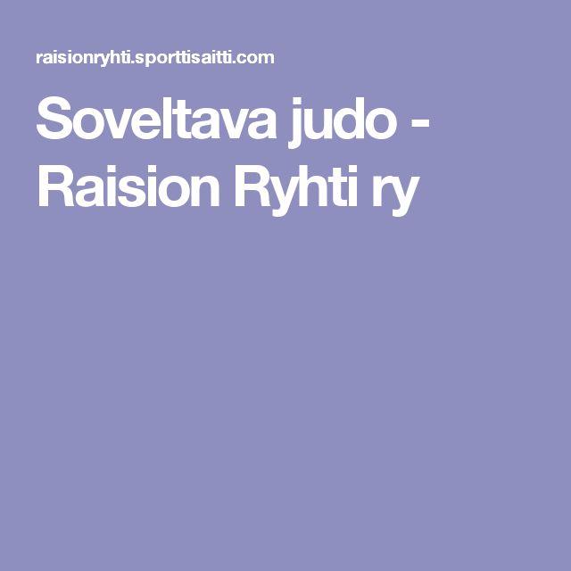 Soveltava judo - Raision Ryhti ry