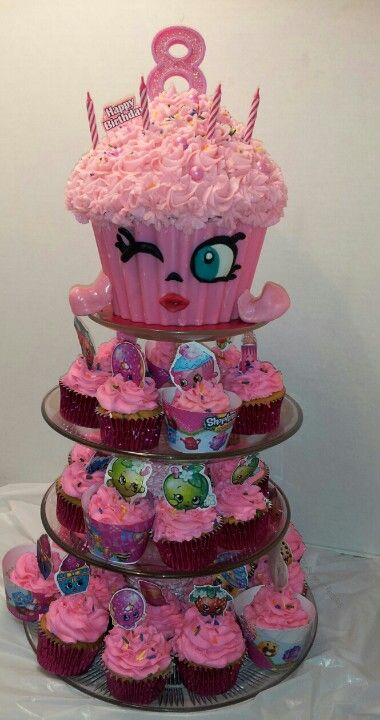 Shopkins birthday giant cupcake