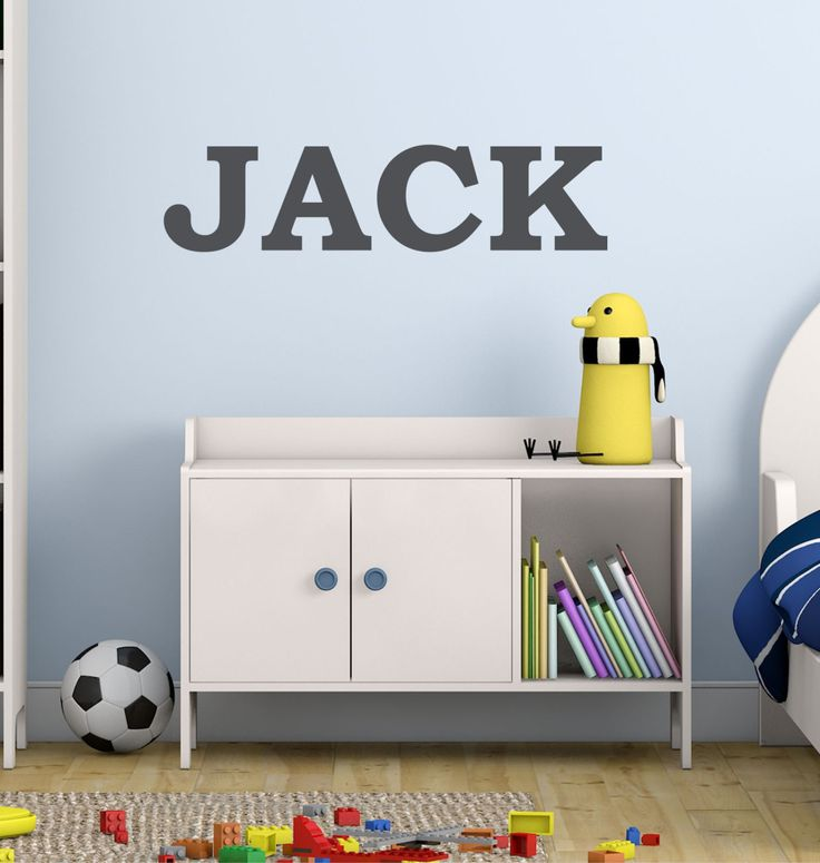 Boys Name Wall Decal - by Decor Designs Decals, Nursery Baby Boys, Bold Font - Childrens Decals - Personalized Wall Decal- Kids Room Decals, Playroom Decals AU37 Boys Wall Decal- by Decor Designs Deca