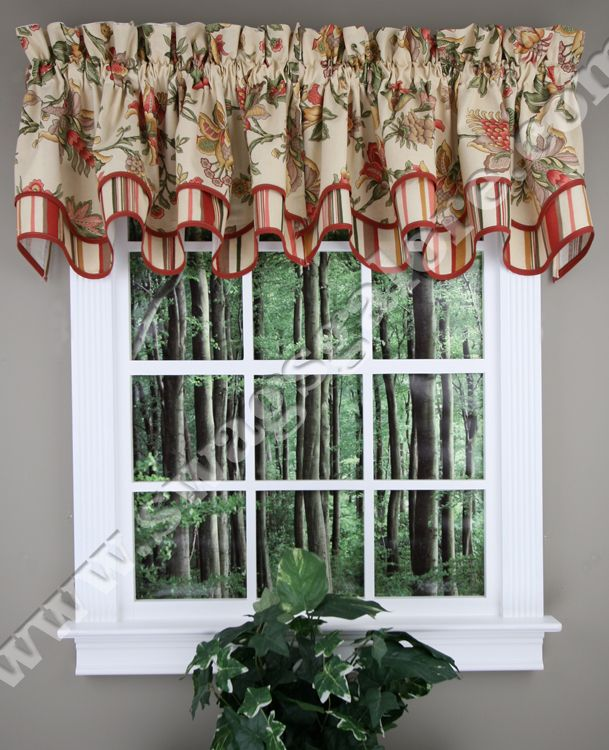 34 best images about layered valances on pinterest floral patterns country style and waverly - Kitchen valance patterns ...