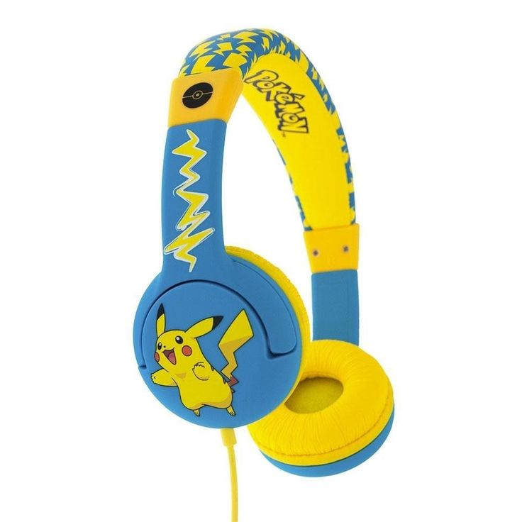 Children's Headphone Pokemon PIKACHU  for ages 3-7 Years #ChildrensHeadphonePokemon