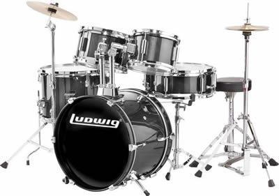Ludwig 5-Piece Junior Children's/Kids Starter Drum Set (for 3 - 8 yrs)