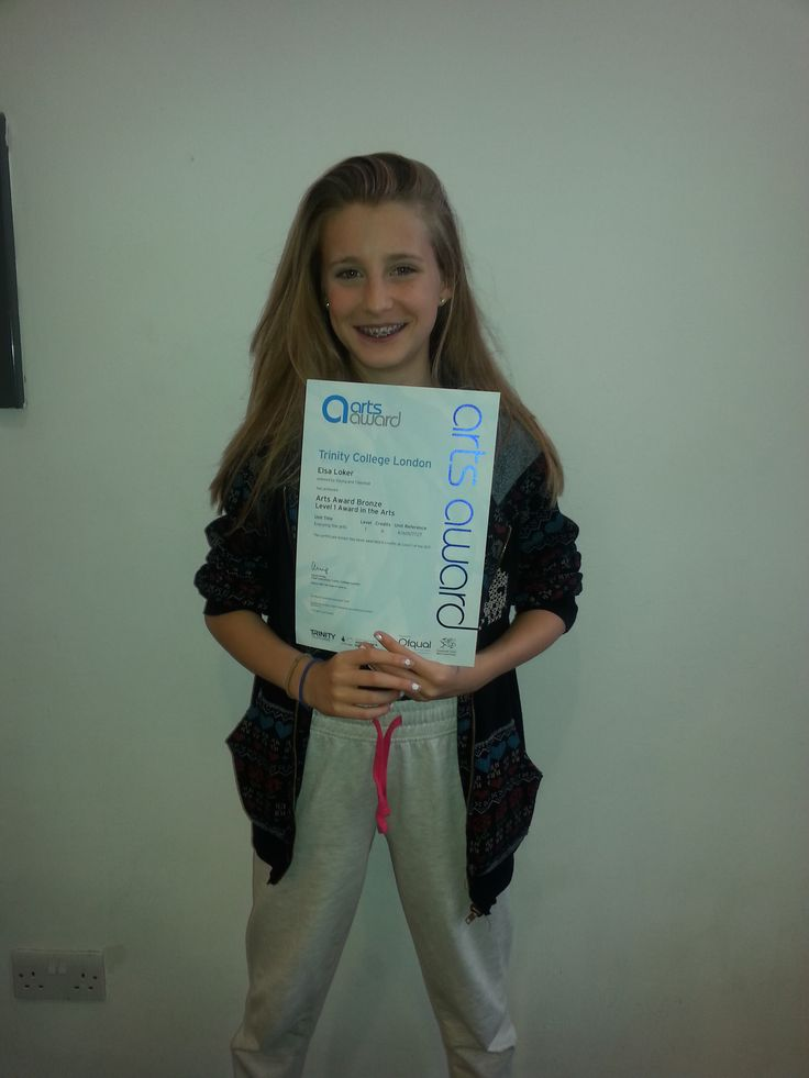 PAYP participant Elsa - recieves her Arts Awards Certificate!!!