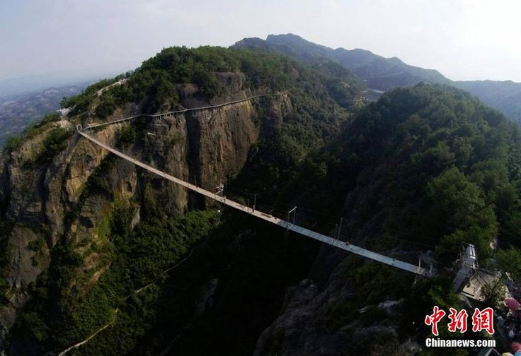 1000 ft Long, 600 ft High Suspension Bridge Opens in China. Oh and Its Made of Glass