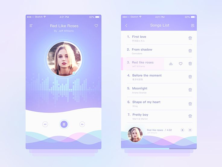 Music UI Design by skyu #Design Popular #Dribbble #shots