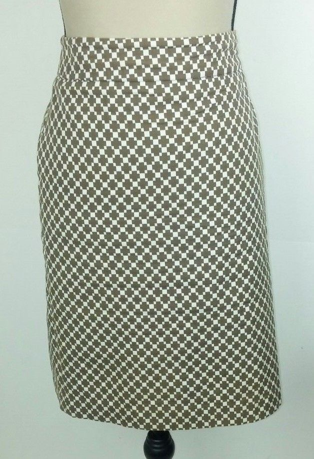 c9ac70591898 Ann Taylor Women's Size 10 Skirt Short Mini Brown Beige Cross Cotton Career  Work #AnnTaylor #Mini #Career