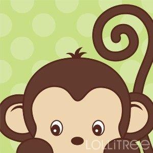 Peekaboo Monkey Art Print for Nursery or Bedroom